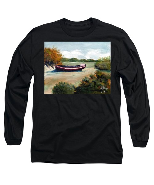 Long Sleeve T-Shirt featuring the painting North Topsail Island by Jim Phillips