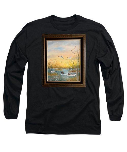Northen Pintails Long Sleeve T-Shirt by Al  Johannessen
