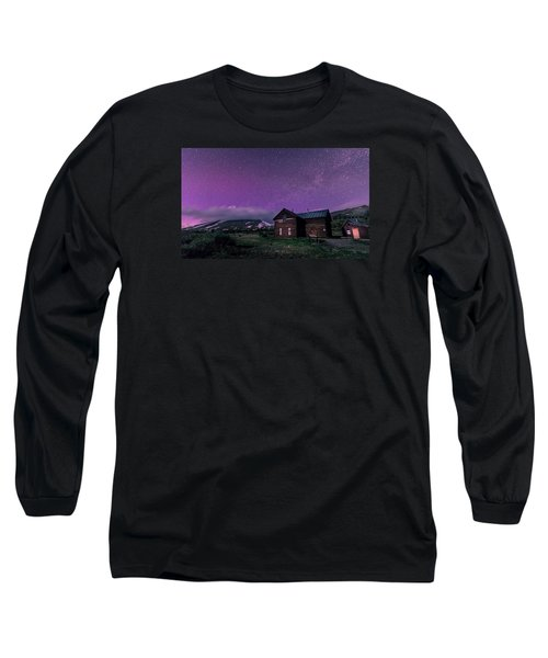 Northern Lights On Boreas Pass Long Sleeve T-Shirt by Michael J Bauer