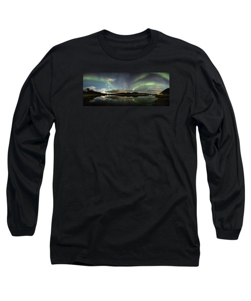 Northern Lights Panorama Long Sleeve T-Shirt