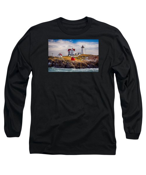 Nubble In Winter Long Sleeve T-Shirt by Tricia Marchlik