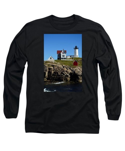 Nubble Lighthouse 2 Long Sleeve T-Shirt by Richard Ortolano