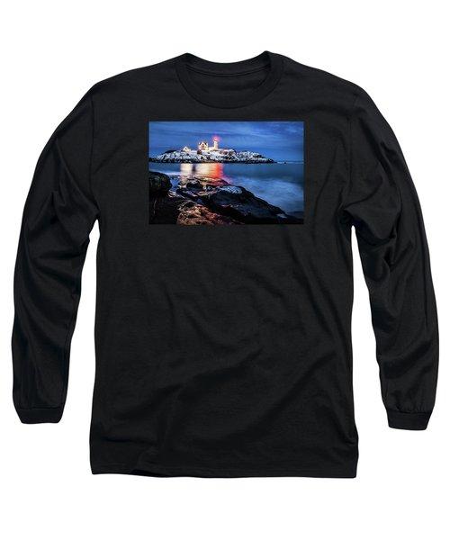 Nubble Lights Long Sleeve T-Shirt by Robert Clifford