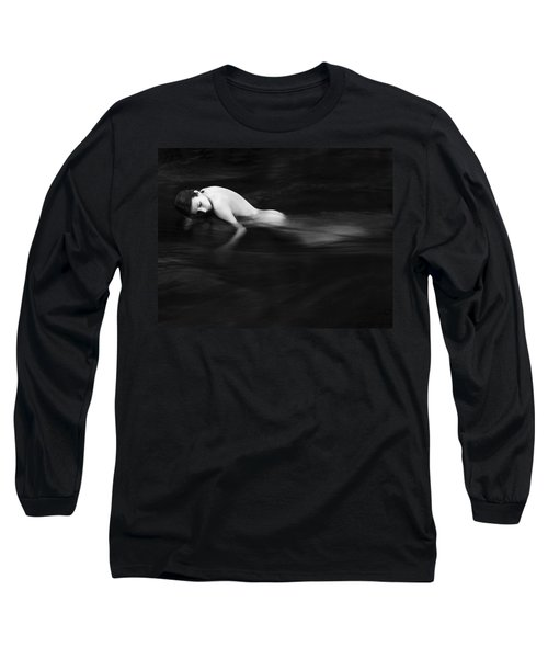 Nude Woman In River Long Sleeve T-Shirt