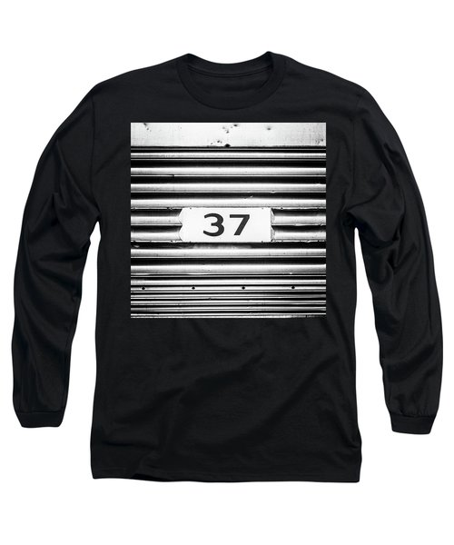 Number 37 Metal Square Long Sleeve T-Shirt by Terry DeLuco