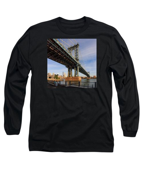 Long Sleeve T-Shirt featuring the photograph Ny Steel by Anthony Fields