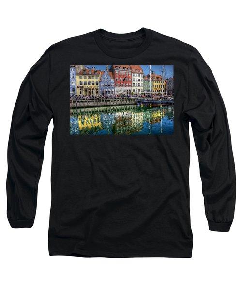 Nyhavn Harbor Area, Copenhagen Long Sleeve T-Shirt by Karen McKenzie McAdoo