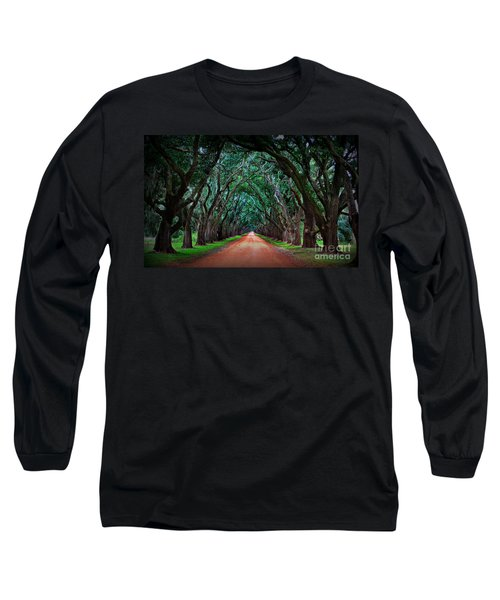 Oak Alley Road Long Sleeve T-Shirt by Perry Webster