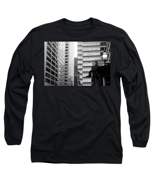 Long Sleeve T-Shirt featuring the photograph Observing The City by Valentino Visentini