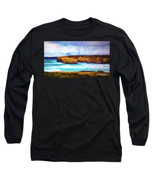 Long Sleeve T-Shirt featuring the photograph Ocean Cliffs by Perry Webster