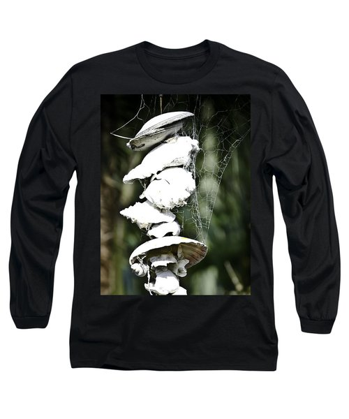 Ocean Shells Composition Long Sleeve T-Shirt by Yurix Sardinelly