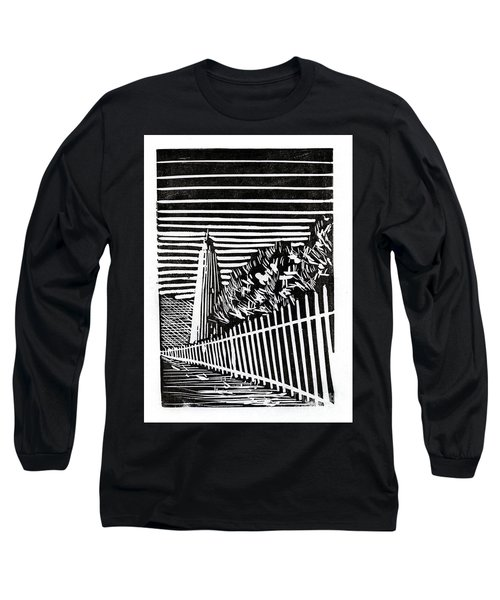 Long Sleeve T-Shirt featuring the painting Ocracoke Island Lighthouse by Ryan Fox