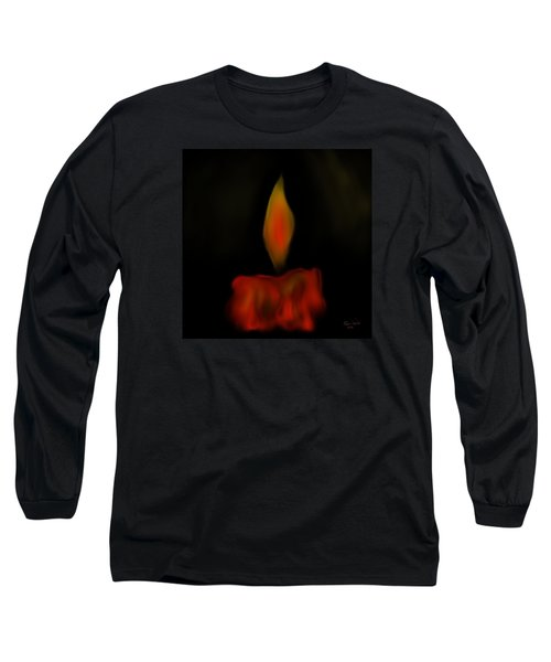 Long Sleeve T-Shirt featuring the painting October Flame by Kevin Caudill
