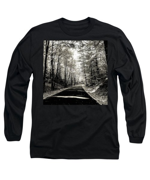 October Grayscale  Long Sleeve T-Shirt