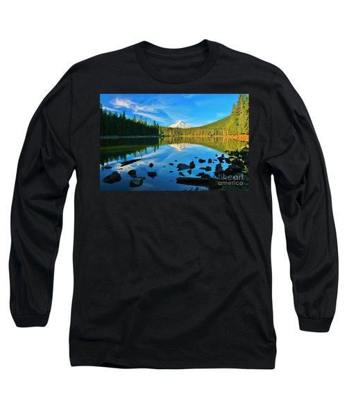 October On The Lake Long Sleeve T-Shirt by Sheila Ping