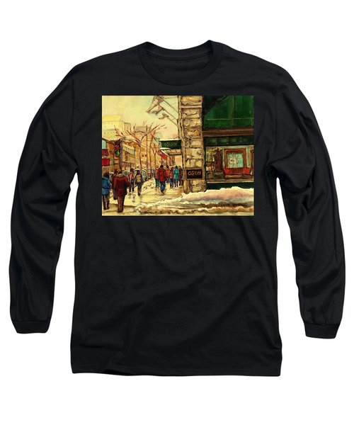 Ogilvys Department Store Downtown Montreal Long Sleeve T-Shirt by Carole Spandau