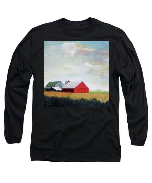 Ohio Farmland- Red Barn Long Sleeve T-Shirt