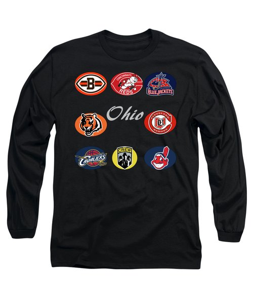 Ohio Professional Sport Teams Collage Long Sleeve T-Shirt