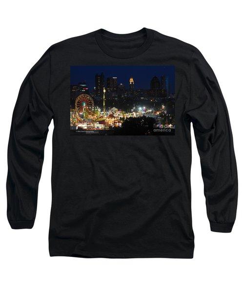 D3l-464 Ohio State Fair With Columbus Skyline Long Sleeve T-Shirt