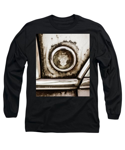 Long Sleeve T-Shirt featuring the photograph Old And Worn Packard Emblem by Marilyn Hunt