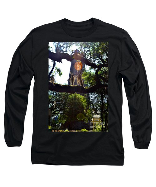 Old Baldy Lighthouse And Tree Long Sleeve T-Shirt