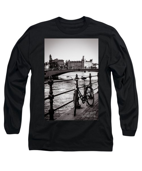 Old Bicycle In Central Stockholm Long Sleeve T-Shirt