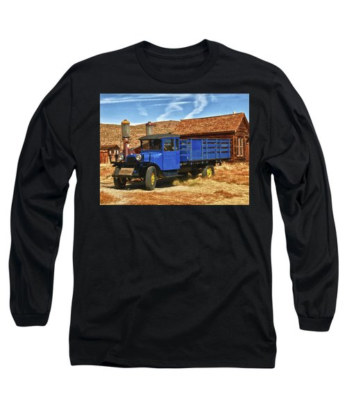 Old Blue 1927 Dodge Truck Bodie State Park Long Sleeve T-Shirt by James Hammond
