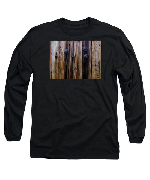 Old Door With Bolts And Nails Long Sleeve T-Shirt