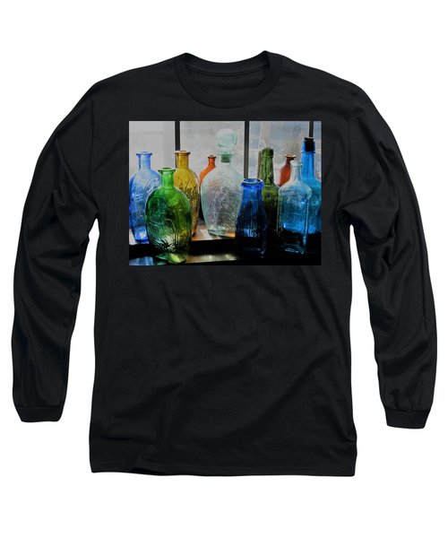 Long Sleeve T-Shirt featuring the photograph Old Bottles by John Scates