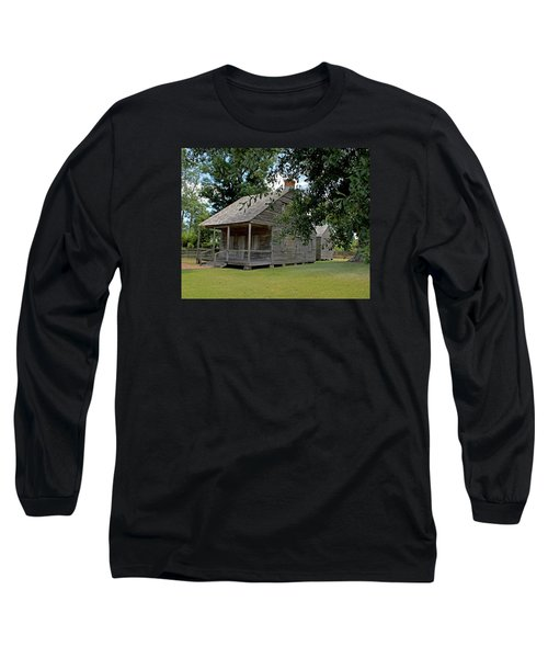 Old Cajun Home Long Sleeve T-Shirt by Judy Vincent