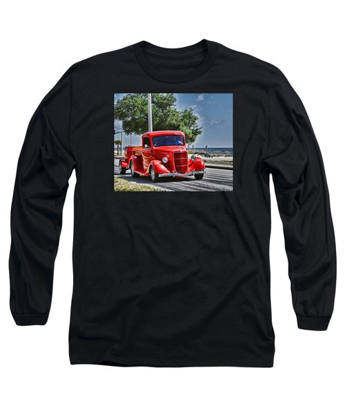 Old Car 2 Long Sleeve T-Shirt by Cathy Jourdan