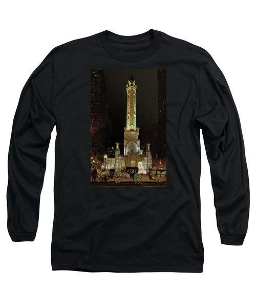Old Chicago Water Tower Long Sleeve T-Shirt by Alan Toepfer