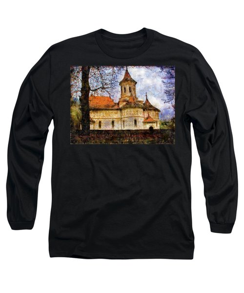 Old Church With Red Roof Long Sleeve T-Shirt