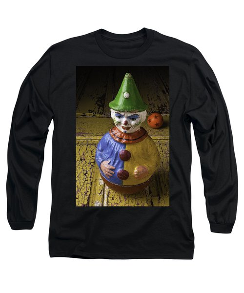 Old Clown And Ball Long Sleeve T-Shirt