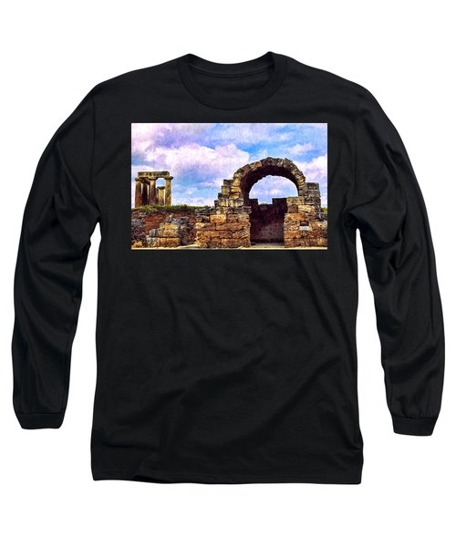 Long Sleeve T-Shirt featuring the photograph Old Corinth Shop by Trey Foerster