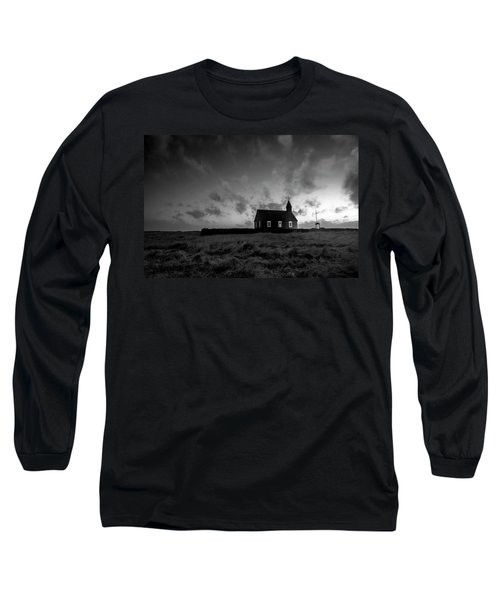 Old Countryside Church In Iceland Long Sleeve T-Shirt by Joe Belanger