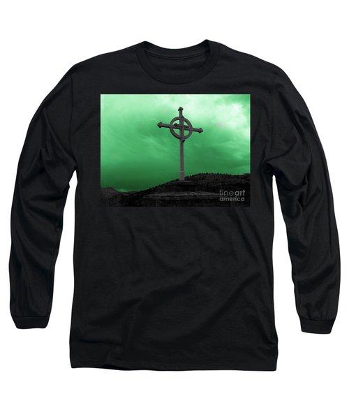 Old Cross - Green Sky Long Sleeve T-Shirt