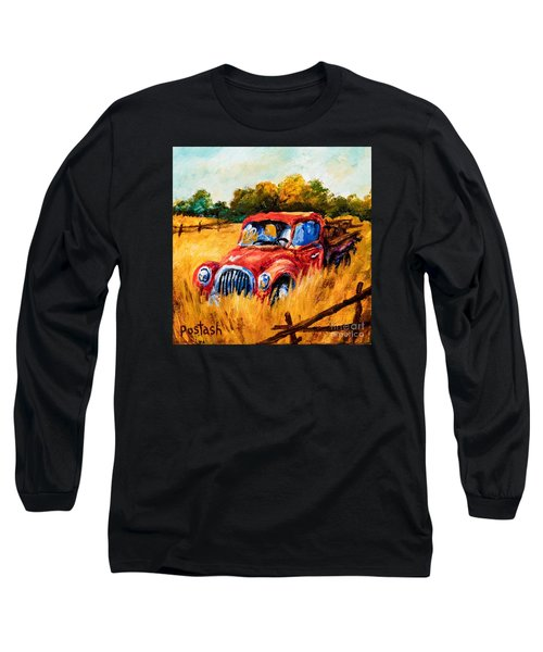 Long Sleeve T-Shirt featuring the painting Old Friend by Igor Postash