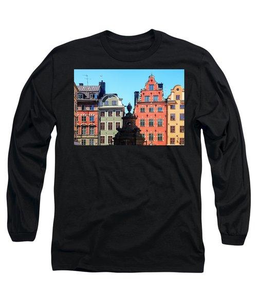 Old European Architecture Long Sleeve T-Shirt by Teemu Tretjakov