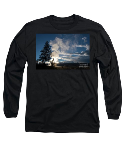 Old Faithfull At Sunset Long Sleeve T-Shirt