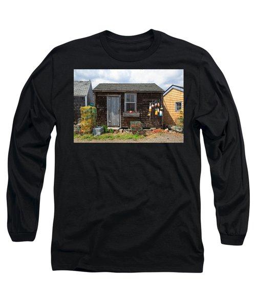 Old Fishing  Houses  Long Sleeve T-Shirt