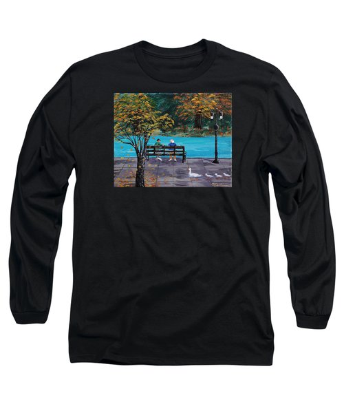 Old Friends Long Sleeve T-Shirt by Mike Caitham