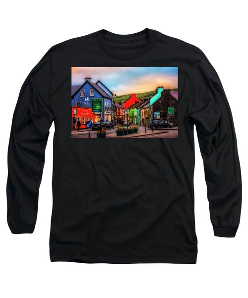 Old Irish Town The Dingle Peninsula At Sunset Long Sleeve T-Shirt