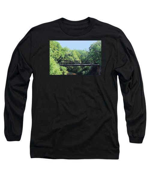 Long Sleeve T-Shirt featuring the photograph Old Iron Bridge Over Caddo Creek by Sheila Brown