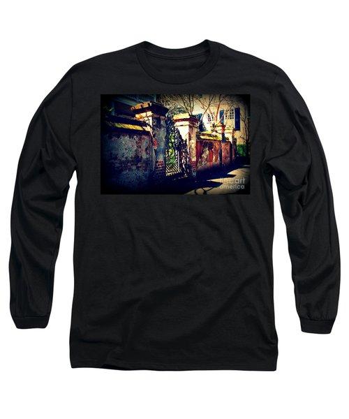 Old Iron Gate In Charleston Sc Long Sleeve T-Shirt by Susanne Van Hulst