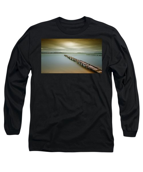 Old Jetty 0010 Long Sleeve T-Shirt by Kevin Chippindall