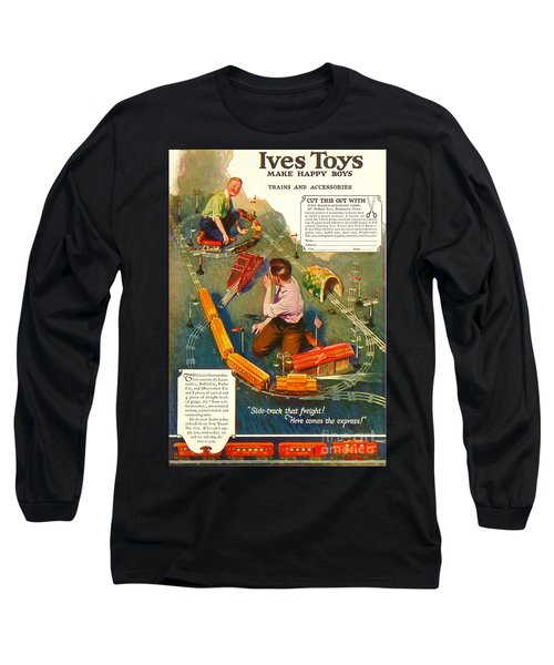 Old Litho Print Toy Train Advertisement Long Sleeve T-Shirt