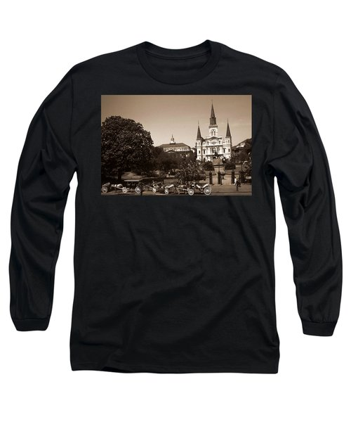 Old New Orleans Photo - Saint Louis Cathedral Long Sleeve T-Shirt