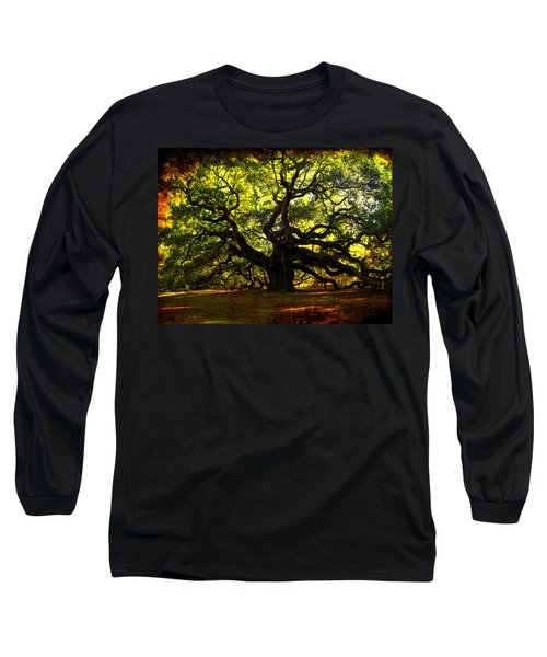 Old Old Angel Oak In Charleston Long Sleeve T-Shirt