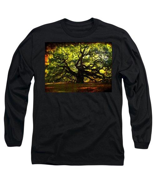Old Old Angel Oak In Charleston Long Sleeve T-Shirt by Susanne Van Hulst